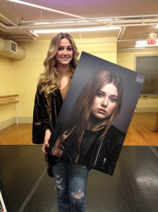 Gracie holding the image that will be part of a permanent display at LexArts in downtown Lexington KY. Visit my webpage for more images www.jimtincher.com